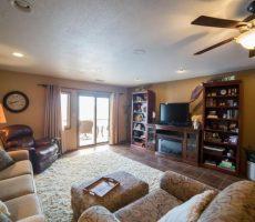 East lake okoboji living room